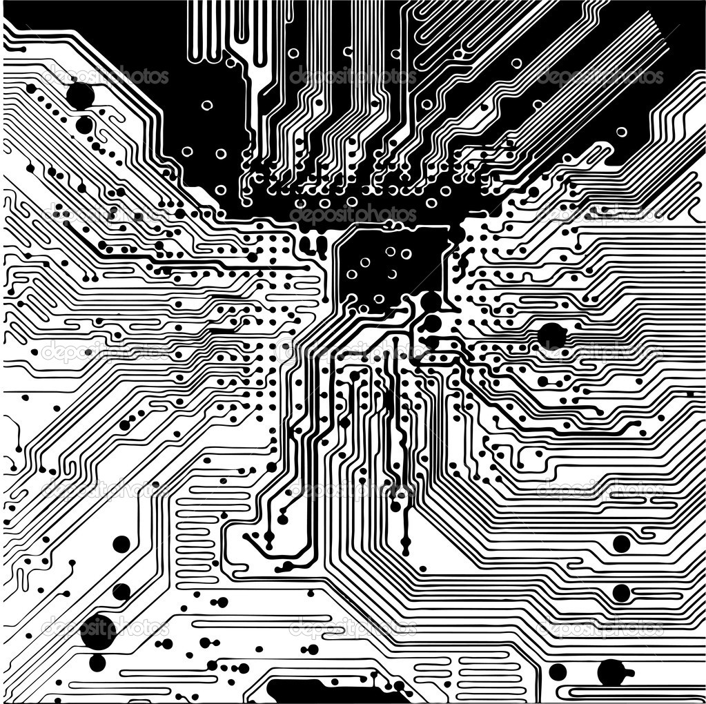 Circuit Vector Wallpaper Computer Circuit Board Made in