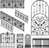 Collection of fences (vector) — Stock Vector