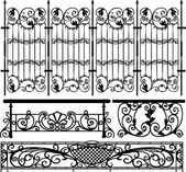 Collection of fences (vector) — Vector de stock
