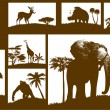 African animals collection (vector) — Vettoriali Stock