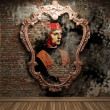 Antique portrait fresco — Stockfoto