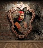 Antique portrait fresco — Stock Photo