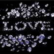 Royalty-Free Stock Imagen vectorial: Vector Valentines Day diamonds