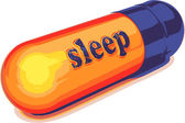 Vector blue capsule sleep — Stock Vector