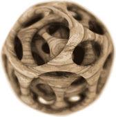 Vector wooden spherical designer — Stock Vector