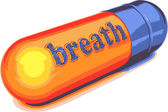 Vector blue capsule breath — Stock Vector