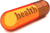 Vector brown capsule health — Stock Vector