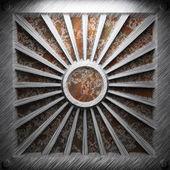 Aluminium och rostig metallplatta — Stockfoto
