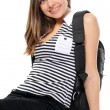 Royalty-Free Stock Photo: Young female student with a backpack