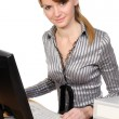 Woman in front of her computer — Stock Photo #2833578