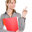 Pointing businesswoman — Stock Photo #2872979