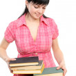 Young woman with books — Stock Photo #2897168
