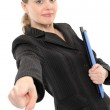 Businesswoman pointing at you. — Stock Photo