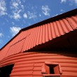 Stock Photo: Red barn and sky