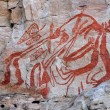Aboriginal rock art — Stock Photo #3471049