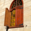 Window in wooden frame - Stock Photo