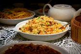 Arroz frito chinês — Fotografia Stock