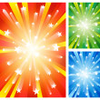 Stock Vector: Fireworks backgrounds