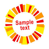 Sun frame or label — Stock Vector