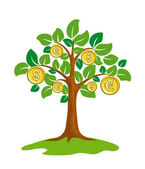 Money tree. — Stock Vector