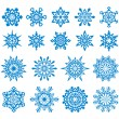 Royalty-Free Stock Vektorgrafik: Vector Snowflakes Set 4