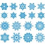 flocons de neige vector set 4 — Vecteur