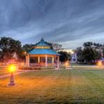 Gazebo at dusk, HDR — Stock Photo