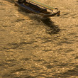 Stock Photo: Boat on Chao Phraya, Bangkok, Thailand