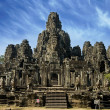 Ancient temple in Angkor Wat, Cambodia - Stock Photo