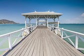 Beautiful pier in Thailand — Stock Photo