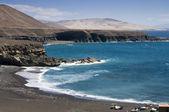Playa negra en fuerteventura — Foto de Stock