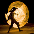 Man dancing with fire — Stock Photo