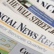 Financial Newspapers - Stock Photo
