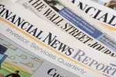Financial Newspapers — Stock Photo