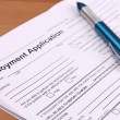 Employment Application Form for filling — Stock Photo