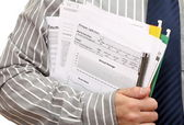 Home loan application form — Stock Photo