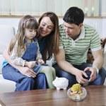 família finanças — Foto Stock