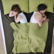 Young couple in bed — Stock Photo #2856694