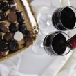 Royalty-Free Stock Photo: Wine and chocolate