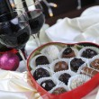 Vine, chocolate and praline decoration - Stock Photo