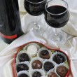 Vine, chocolate and praline decoration — Foto de Stock