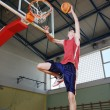 Basketball jump - Stock Photo