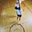 Playing basketball game — Stok fotoğraf