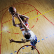Playing basketball game - Stock Photo