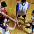 Foto de Stock  : Basketball team spirit