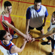 Stockfoto: Basketball team spirit