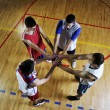 Stock Photo: Basketball team spirit