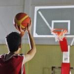 Basketball player shooting — Stock Photo #3078382