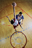 Playing basketball game — Stock Photo