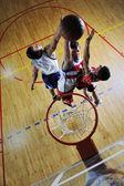 Playing basketball game — Stock Photo